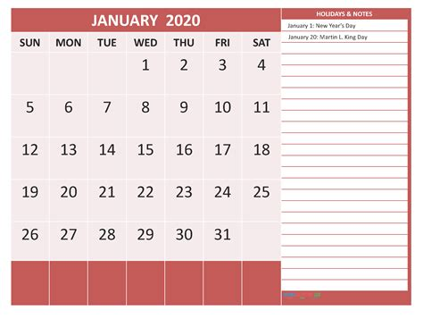january  calendar  holidays  printable  word