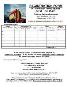 2009 family reunion information
