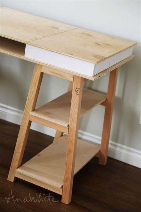 white desk with wooden legs ana white build a sawhorse storage leg desk free and