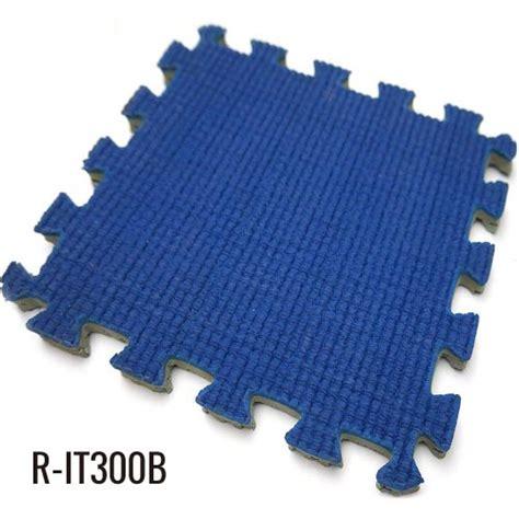 Mat 10mm Blue 10mm blue easy installation indoor interlocking rubber mat