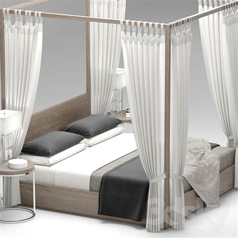 rh beds 3d models bed rh modern machinto four poster bed