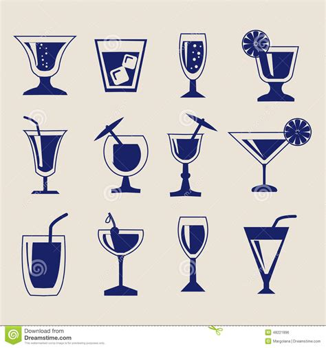 tropical cocktail silhouette tropical cocktail cup isolated icon stock illustration