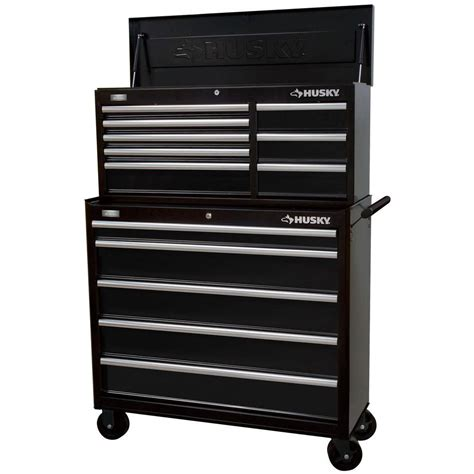 husky tool drawer organizer husky rolling tool cabinet box 41 in 13 dr chest tools