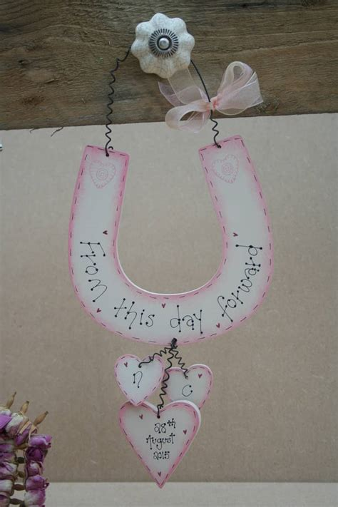 Handmade Wedding Horseshoes - personalised handmade wedding horseshoe by primitive