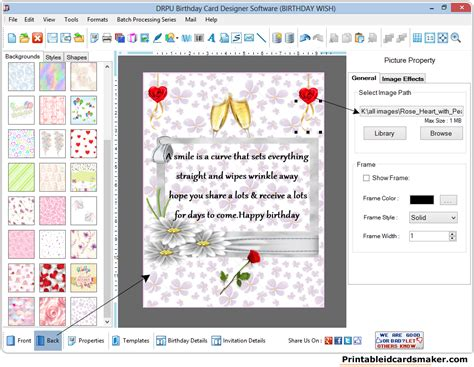 printable id cards maker birthday cards maker software screenshots to design