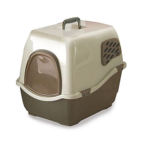 litter box in bedroom marchioro bill 1f brown deluxe cat litter box bed bath beyond