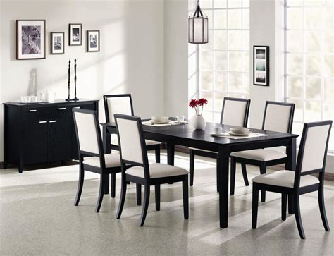 black dining room tables coaster louise 101561 101562 black wood dining table set
