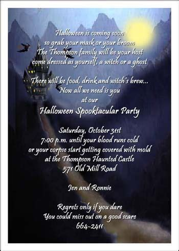 halloween invitation wording adults  festival collections