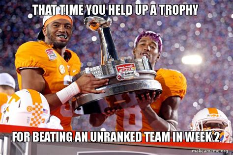 Tennessee Football Memes - these 6 memes hilariously mock tennessee s bristol celebration