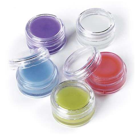 Lip Balm fruity lip balm in mini jars branded leisure gifts