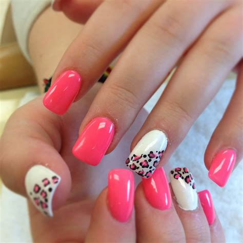 x pattern nails summer acrylic nail designs
