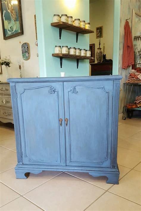 Annie Sloan Greek Blue and Graphite wash   Annie Sloan