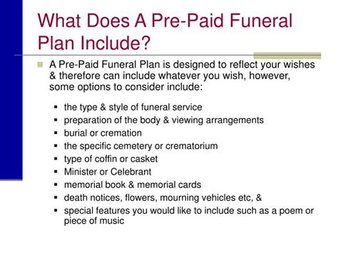 do funeral homes have payment plans do funeral homes have payment plans ppt planning a funeral