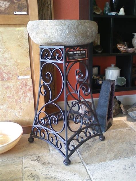 Wrought Iron Bathroom Furniture Wrought Iron Ideas Mediterranean Bathroom Vanities And Sink Consoles Orlando By Iron