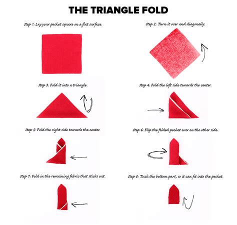 How To Fold Paper Into A Triangle - the pocket square