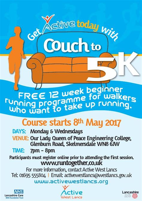 nhs couch 5k active west lancs new couch to 5k group for skelmersdale