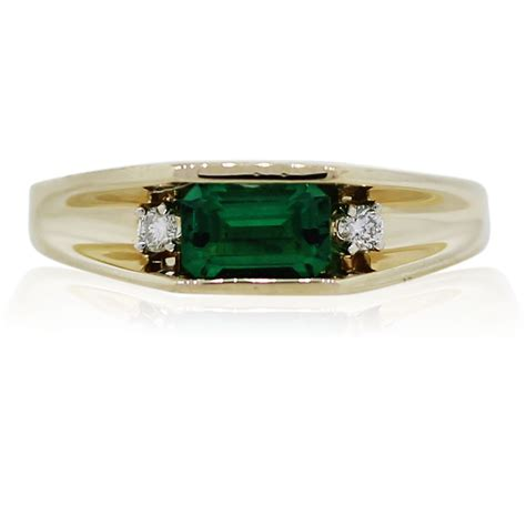 14k yellow gold emerald and ring boca raton