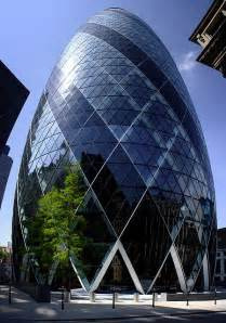 london glass building 30 st mary axe also known as the gherkin and the swiss re
