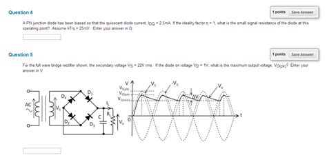 pn diode ideality factor a pn junction diode has been biased so that the qu chegg