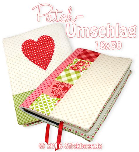 Patchwork Cover - der stickbaer patchwork cover ith embroidery from