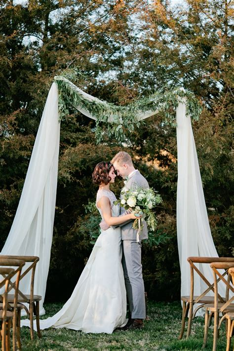 Wedding Arbor With Tulle by Simple Wedding Arbor With Greenery Elizabeth