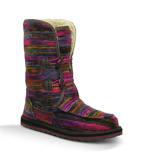 sanuk boots womens sanuk horizon womens boot pink multi