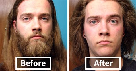hairy before and shaved photos 10 men before after shaving that you won t believe are