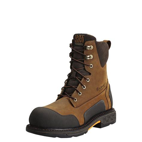 ariat overdrive work boots ariat overdrive xtr 8 inch steel toe side zipper work boot
