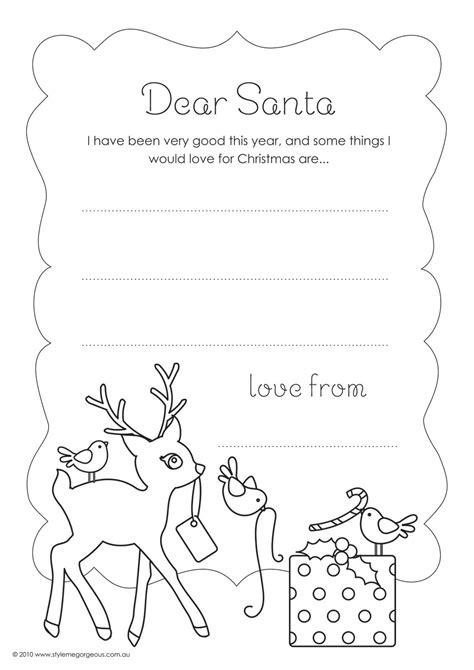 colour letter santa christmas lettering