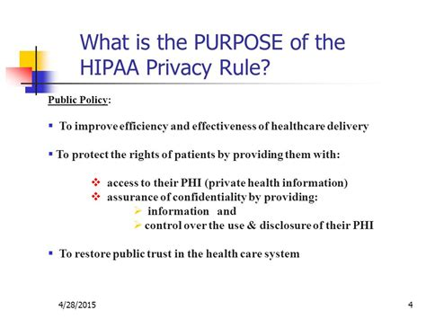 Hipaa Privacy Rights 45 C F R Subtitle A Subchapter C Parts Ppt