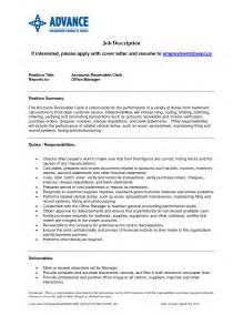 accounts receivable specialist resume sle accounts receivable specialist resume free resumes tips