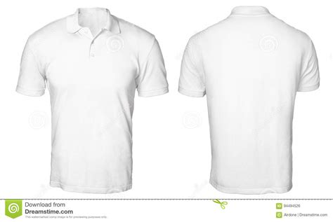 Baju Distro T Shirt Baju Costume Halfbody White Polo Shirt Mock Up Stock Photo Image Of