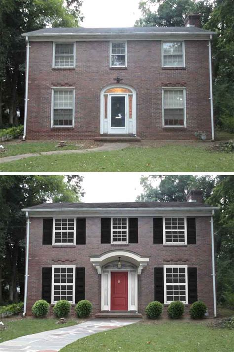 before and after home 10 before and after curb appeal photos pretty purple door
