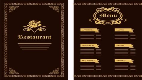 menu card design templates free restaurant menu design templates free