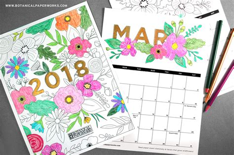 2018 coloring calendar monthly planner books musings of an average 2018 calendars