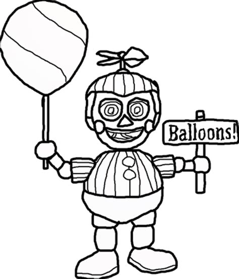 Fnaf Coloring Pages Balloon Boy | balloon boy five nights at freddys free colouring pages
