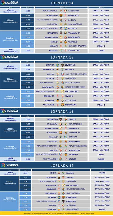 Calendario Lfp La Lfp Anuncia Los Horarios De Las Jornadas 14 15 16 Y