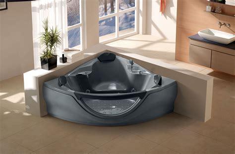 heated jacuzzi bathtub jacuzzi whirlpool bathtub w massage jets heated spa hot tub fm mp3 cd black new ebay
