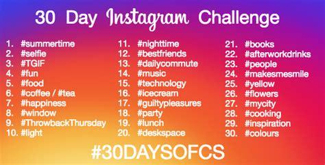 instagram 30 day photo challenge image gallery instagram challenges 2016