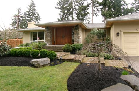 rambler house vs ranch house mid century rambler exterior entry remodel midcentury
