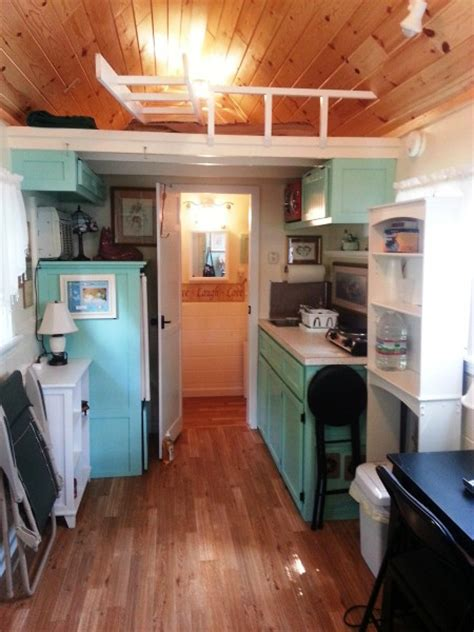tiny homes interior pictures 136 sq ft tiny cottage on a trailer for 32 000 tiny
