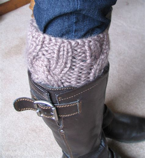 knit boot cuff pattern homespun living a free boot cuff pattern just for you