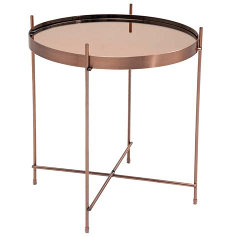 Copper Side Table Modular Metal Side Table Copper Bedroom Company