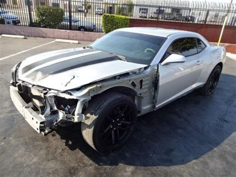 wrecked camaro 2014 chevrolet camaro ls wrecked salvage project for sale