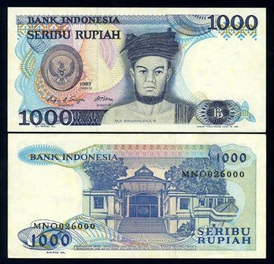 Uang Kuno Lama Rp 1000 Pattimura Th20002001 uang kuno 1980 1988