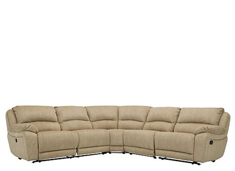 cindy crawford sectional couch cindy crawford mackenzie 5 pc microfiber reclining