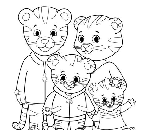 daniel tiger coloring pages best coloring pages