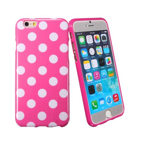 Hello Polkadot Tpu For Iphone 2 polka dot pattern soft tpu gel silicone cover for iphone 6 6s 4 7 plus 5 5 quot pink on luulla