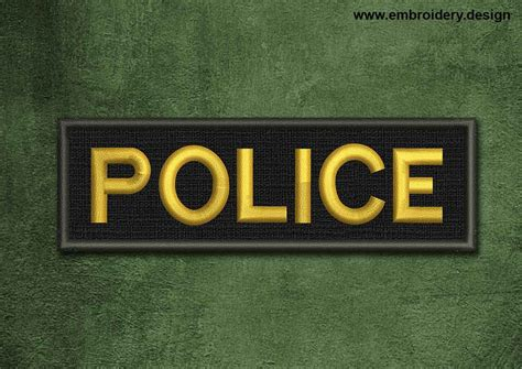 military security patch police