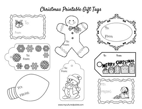 printable sheet of christmas tags free christmas gift tags to color cultured palate